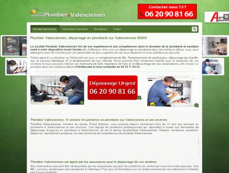 Plombier Valenciennes, dépannage en plomberie