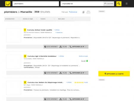 Plombier à Marseille - PagesJaunes : Trouvez...
