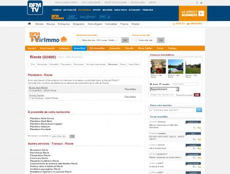 Annuaire des Plombiers - Riscle 32400 |...