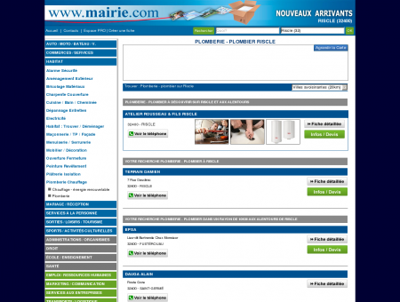Plomberie - plombier Riscle : Mairie.com