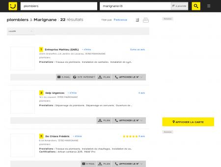 Plombier à Marignane - PagesJaunes : Trouvez...