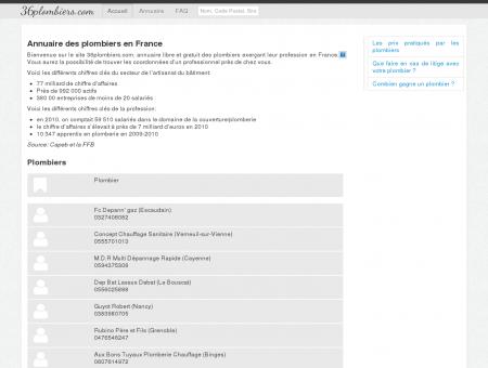 Annuaire des plombiers en France