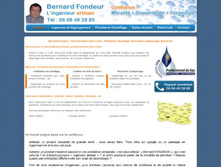 Bernard Fondeur - Votre plombier dans l'Oise :...