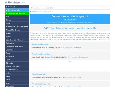 Plombier Oise : 342 plombiers dans le 60,...