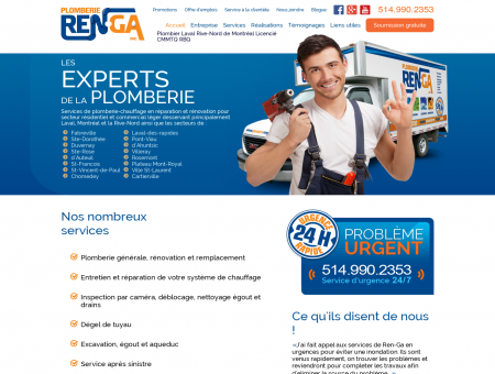 Plomberie Ren-Ga - Plombier Laval Rive-Nord...