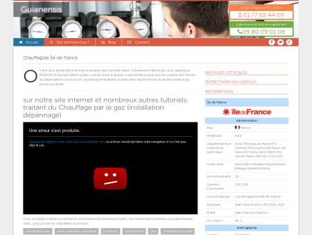 Chauffagiste Île-de-France Tel : 09.80.09.01.06 |...