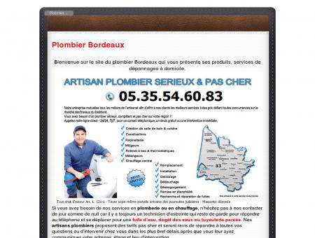 Plombier Bordeaux PAS CHER - 05.35.54.60.83...