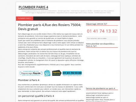 Plombier pas cher paris 4,Rue des Rosiers 75004