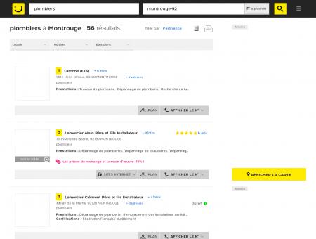 Plombier à Montrouge - PagesJaunes :...