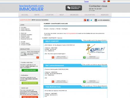 PLOMBIER / CHAUFFAGISTE Vaucluse annuaire...