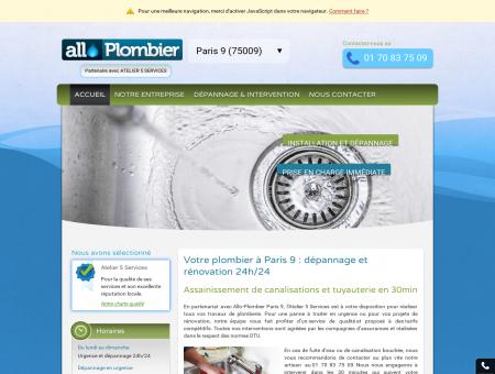 Allo-Plombier Paris 9 - Dépannage & urgence...