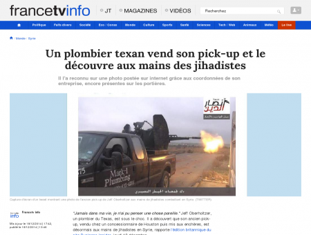 Un plombier texan vend son pick-up et le...