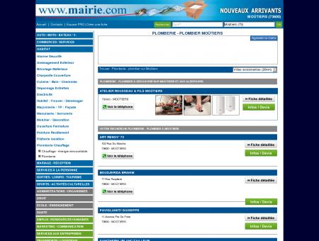 Plomberie - plombier Moûtiers : Mairie.com