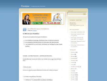 Les différents types d'installations | Plombier