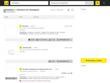 Plombier à Limours en Hurepoix - PagesJaunes...