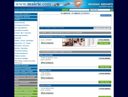 Plomberie - plombier Le Pontet : Mairie.com