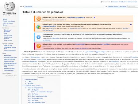Histoire du métier de plombier  Wikipédia