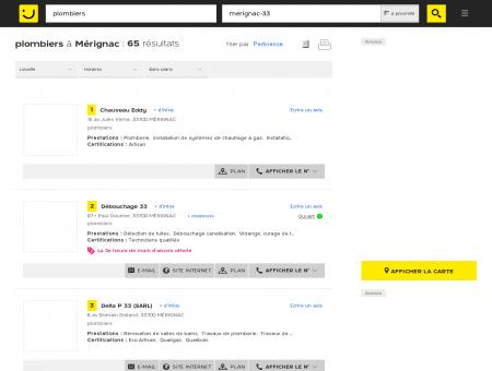 Plombier à Mérignac - PagesJaunes : Trouvez...