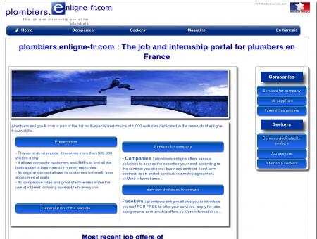 plombiers.enligne-fr.com : Le portail emplois et...