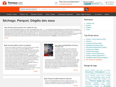 Séchage, Parquet, Dégâts des eaux | Travaux.com