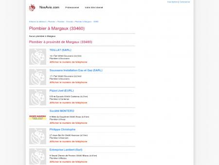 Plombier Margaux - 33460 - Avis Plombiers à...
