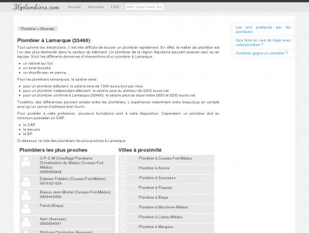 Plombier à Lamarque (33460) - Annuaire des...