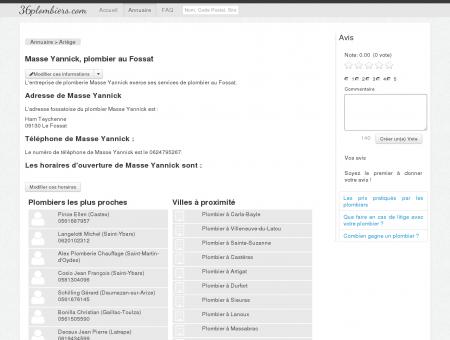 Masse Yannick, plombier au Fossat - Annuaire...