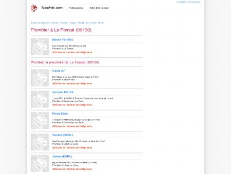 Plombier Le Fossat - 09130 - Avis Plombiers...