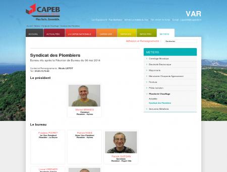 CAPEB : Syndicat des Plombiers