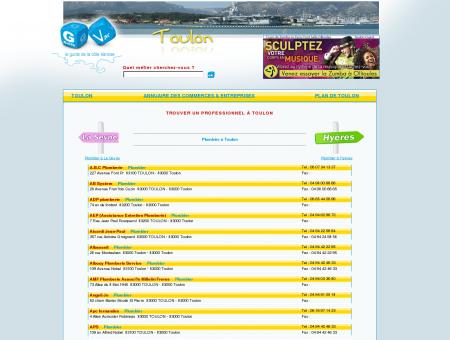 Guide de Toulon. Annuaire des professionnels...