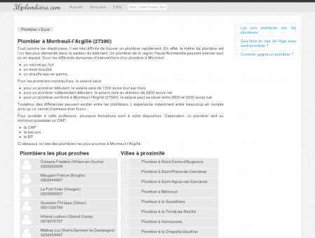Plombier à Montreuil-l'Argillé (27390) -...