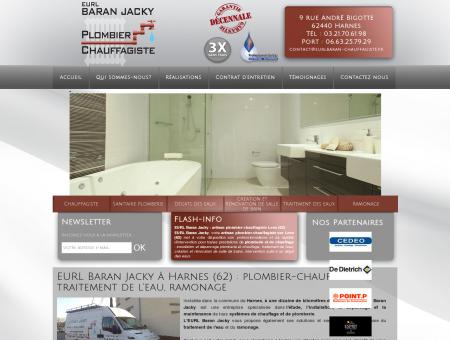 EURL Baran Jacky à Harnes (62) : plombier...