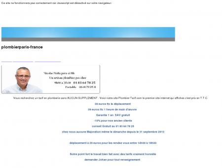 Tarif plombier 39 euros heure