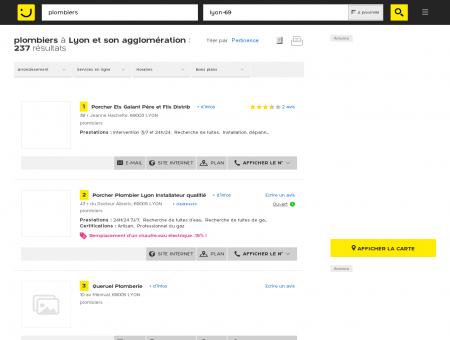 Plombiers à Lyon - PagesJaunes : Trouvez plus...