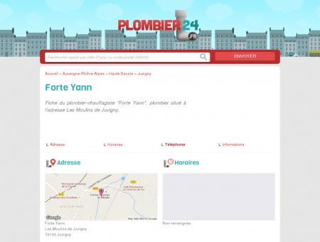 Forte Yann - Plombier-Chauffagiste - Juvigny...