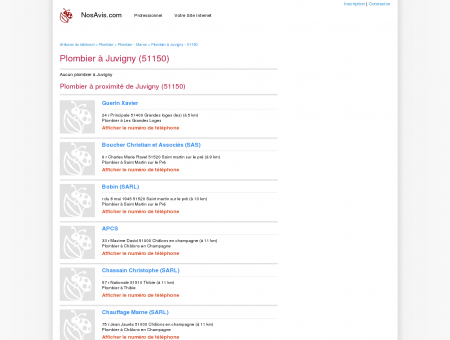 Plombier Juvigny - 51150 - Avis Plombiers à...