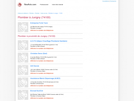 Plombier Juvigny - 74100 - Avis Plombiers à...