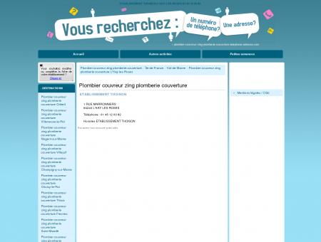 ETABLISSEMENT THOISON L'HAÿ-LES-ROSES...