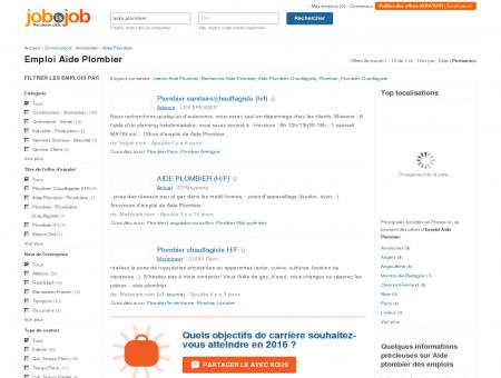 Emploi Aide Plombier - JobisJob France -...