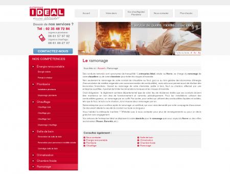 Le ramonage - Entreprise IDEAL  Plombier...