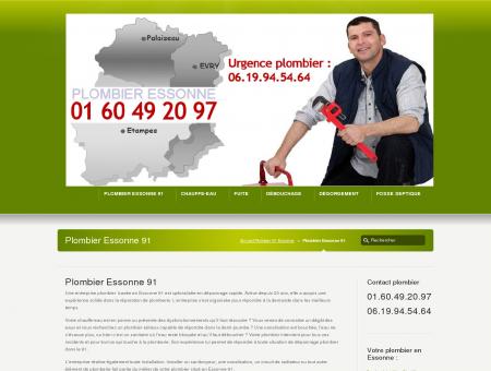 Plombier Essonne 91