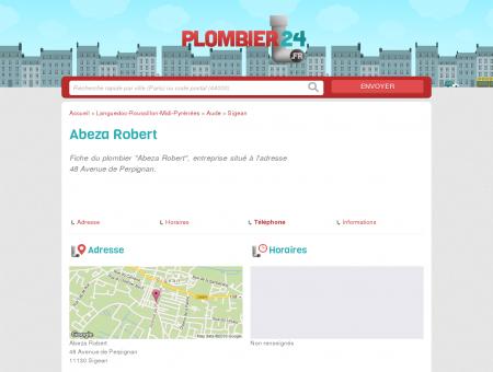 Abeza Robert - Plombier - Sigean 11130 -...