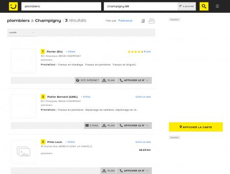 Plombier à Champigny - PagesJaunes :...