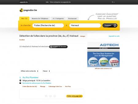 Détection de fuites Hainaut (Province) |...
