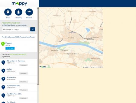 Plombier à Couëron (44220) - Mappy - Plans,...