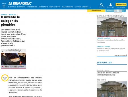 Fil Web | Il invente le caleçon du plombier
