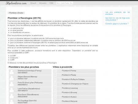 Plombier à Recologne (25170)