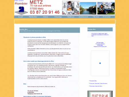 plombier Metz entreprise plomberie 75 rue...