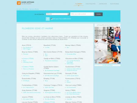 Trouver un artisan plombier en Seine-et-Marne...