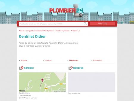 Gentillet Didier - Plombier-Chauffagiste - Arras...